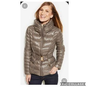 T Tahari Packable Belted Down Puffer Jacket XS